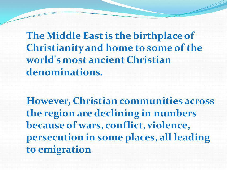 The Situation in Lebanon Lebanon s Christians stand at a crossroads.