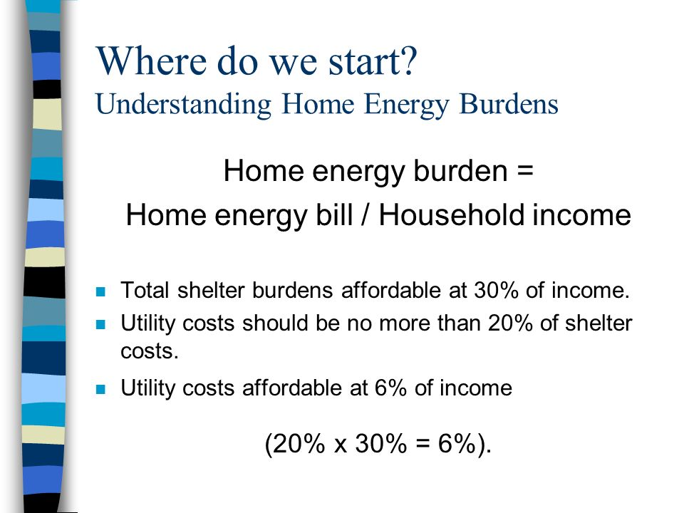 Indiana Home Energy Burdens Where have we been/where are we going.