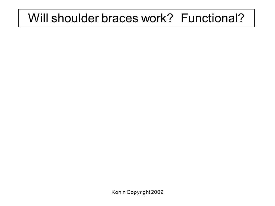 Konin Copyright 2009 Will shoulder braces work? Functional?