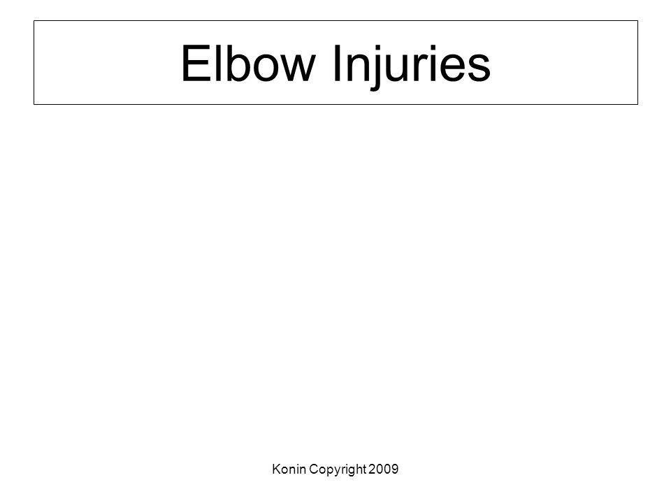 Konin Copyright 2009 Elbow Injuries