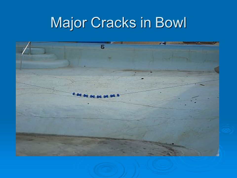 Major Cracks in Bowl