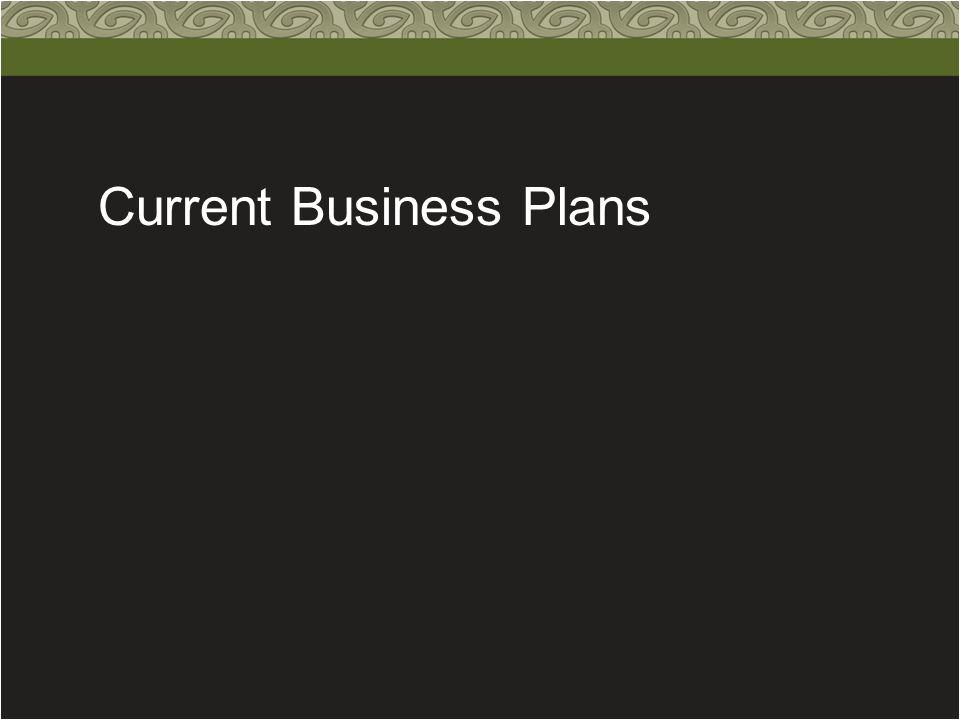 Current Business Plans
