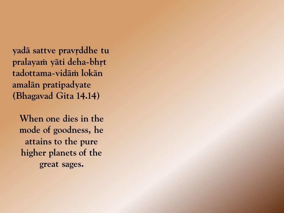jïeyaà yat tat pravakñyämi yaj jïätvämåtam açnute anädi mat-paraà brahma na sat tan näsad ucyate (Bhagavad Gita 13.13) I shall now explain the knowable, knowing which you will taste the eternal.