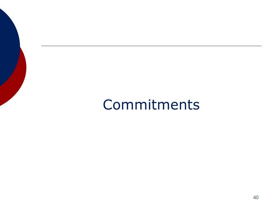 40 Commitments