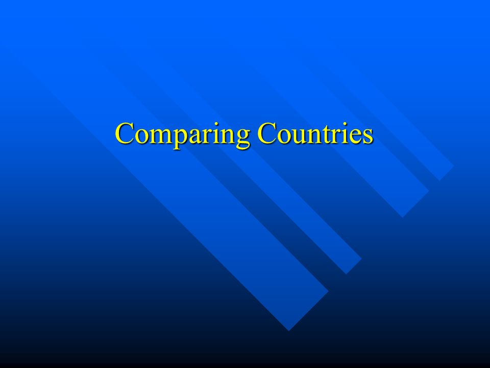 Comparing Countries