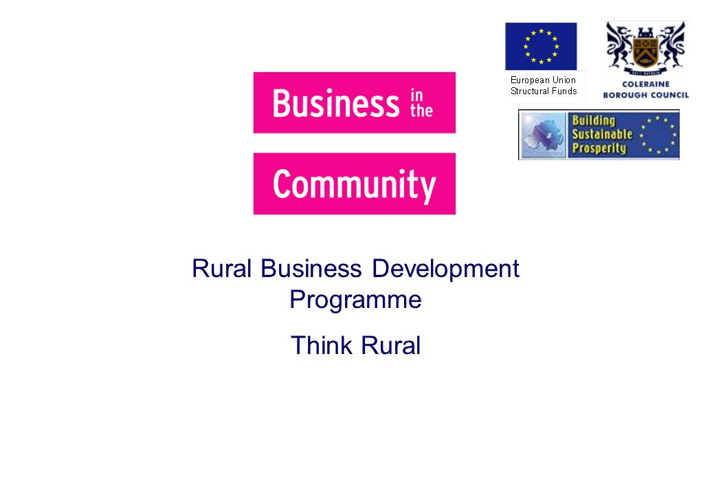Rural Business Development Programme Think Rural