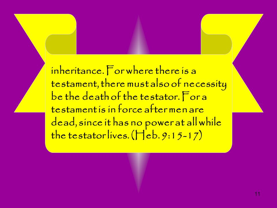11 inheritance. For where there is a testament, there must also of necessity be the death of the testator. For a testament is in force after men are d