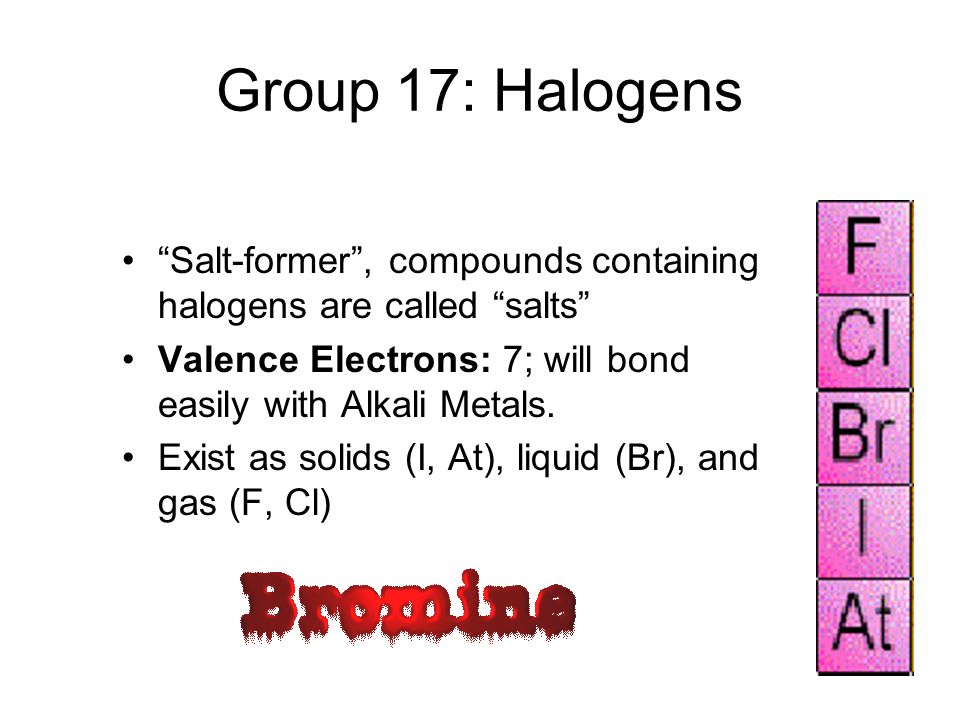 Group 14-16: Non-Metals Properties:Do not conduct electricity or heat very well, brittle, not malleable or ductile, no luster, do not reflect light Ex