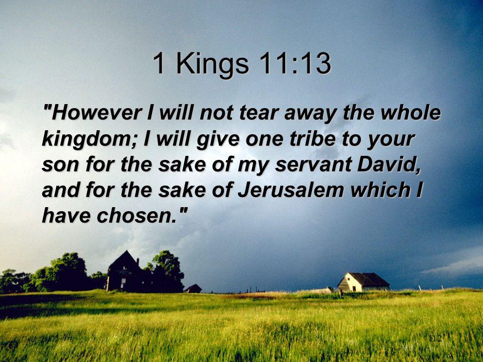 112 1 Kings 11:13