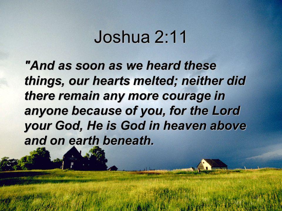 46 Joshua 2:11
