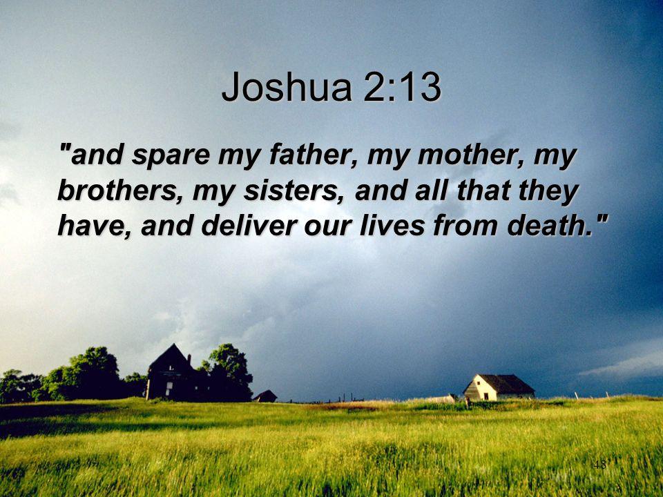 48 Joshua 2:13