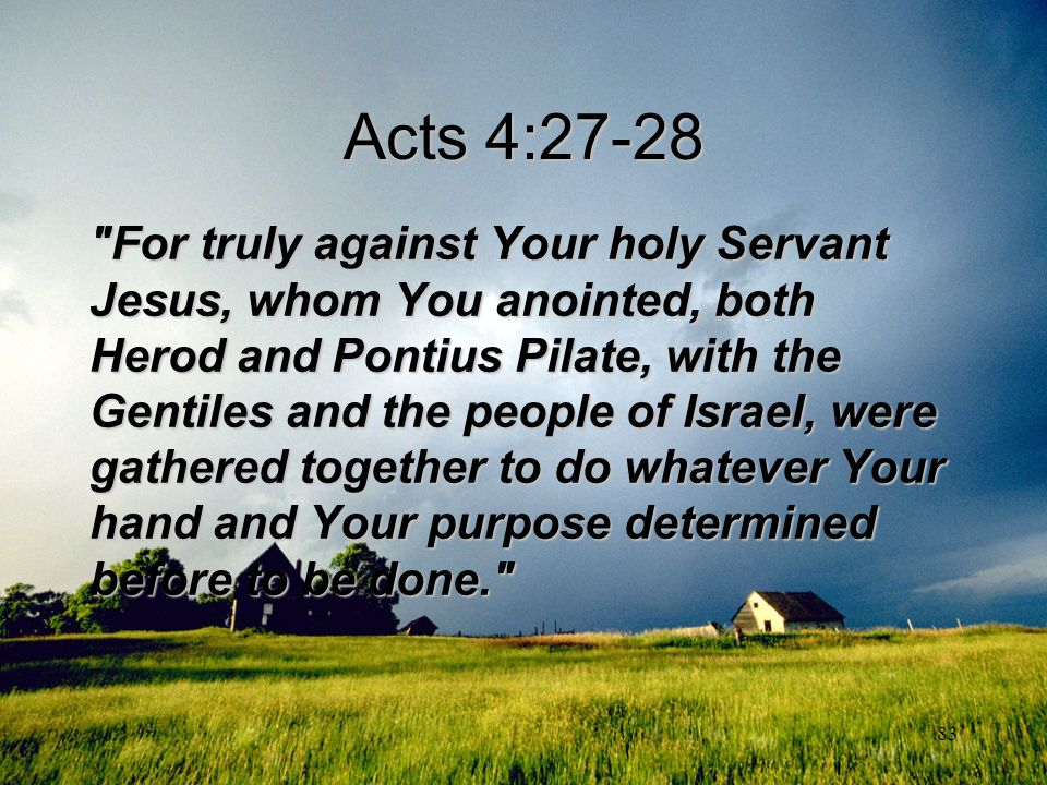83 Acts 4:27-28