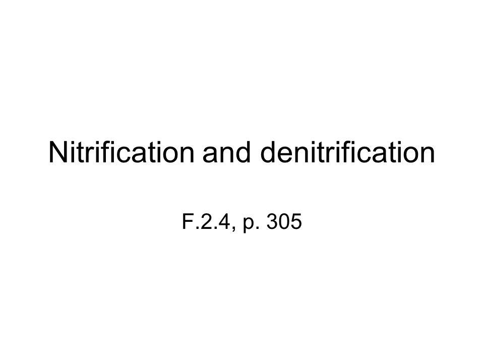 Nitrification and denitrification F.2.4, p. 305