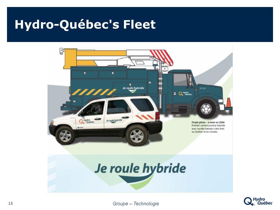 Groupe – Technologie 15 Hydro-Québec s Fleet