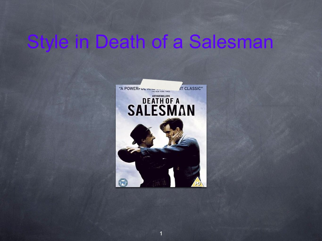 Style in Death of a Salesman 1