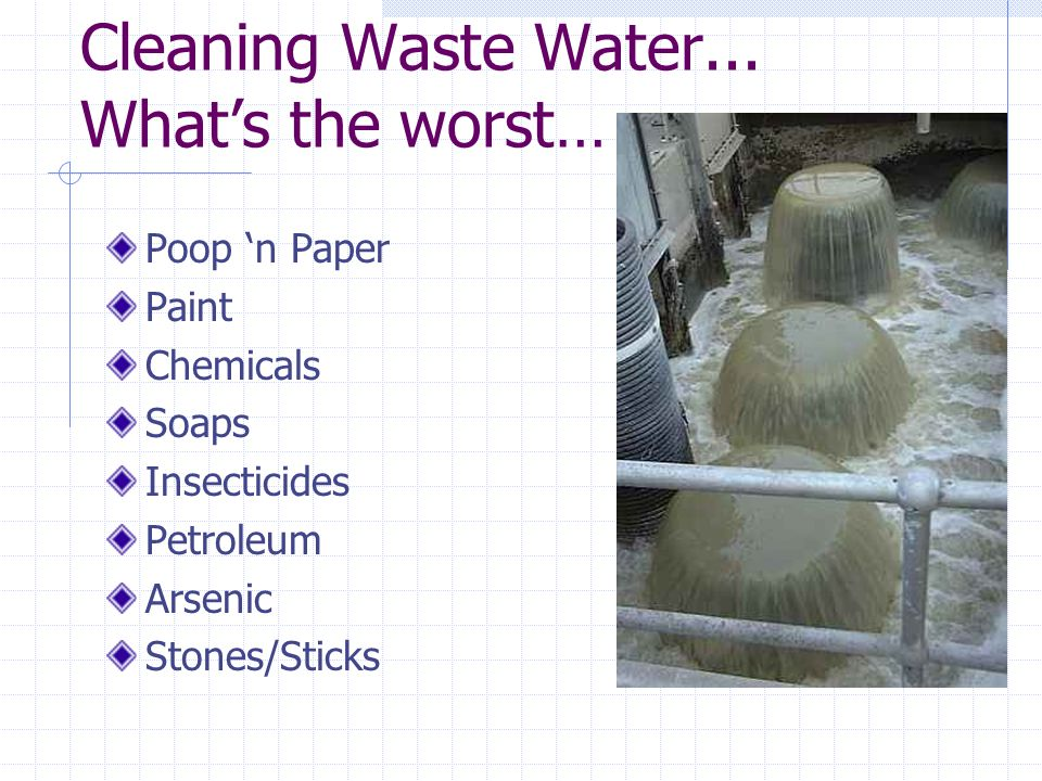 Cleaning Waste Water...