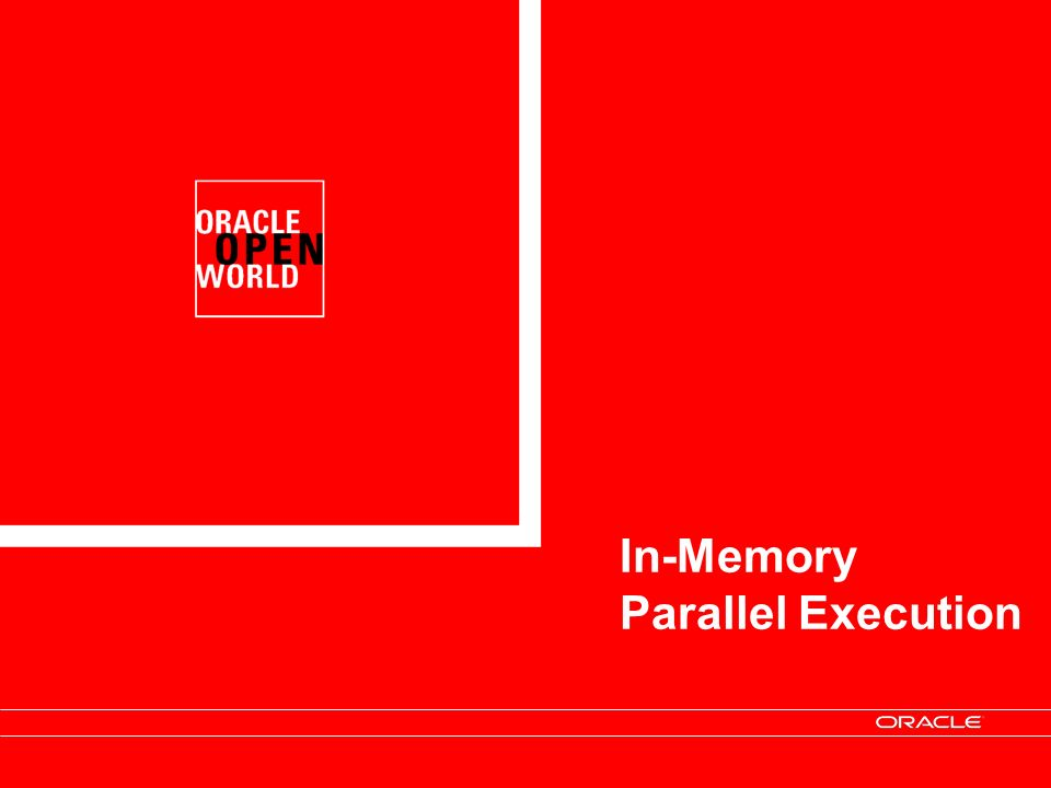 In-Memory Parallel Execution