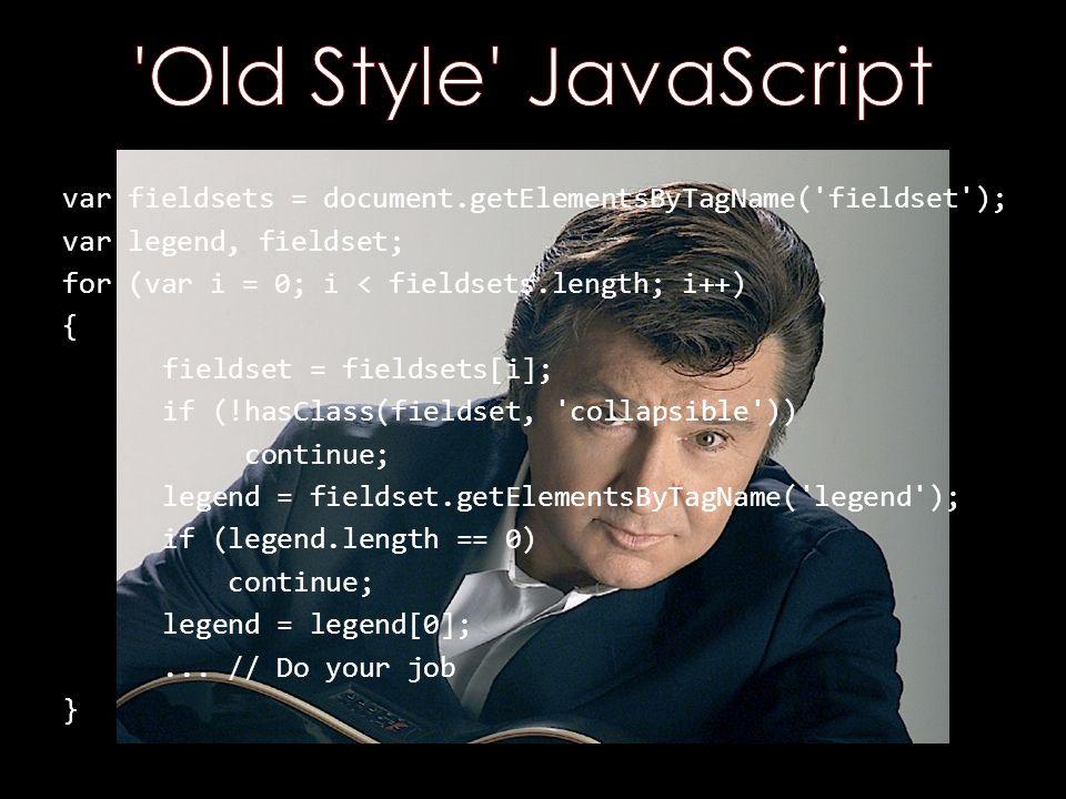 $( fieldset.collapsible legend ).each(function() {...