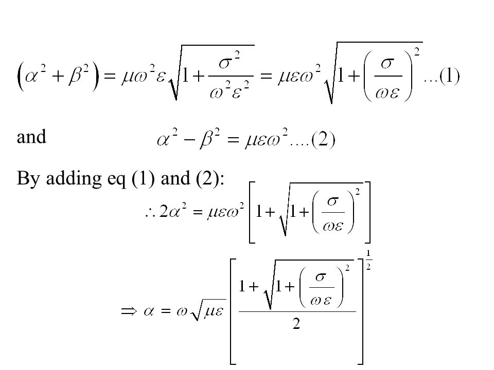 and By adding eq (1) and (2):