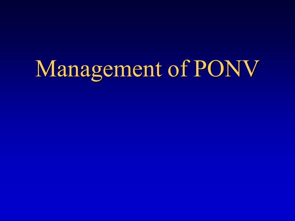 Management of PONV