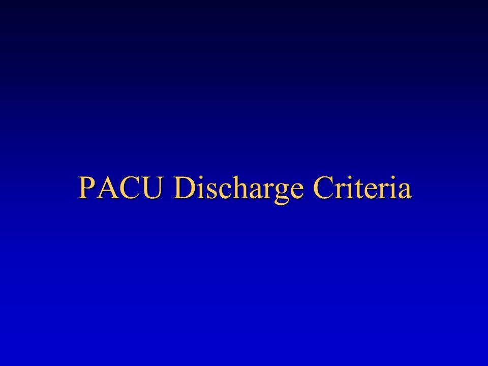 PACU Discharge Criteria
