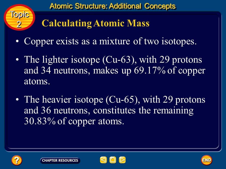 Calculating Atomic Mass Topic 2 Topic 2 Atomic Structure: Additional Concepts