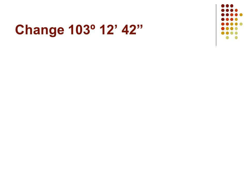 Change 29º 30 60