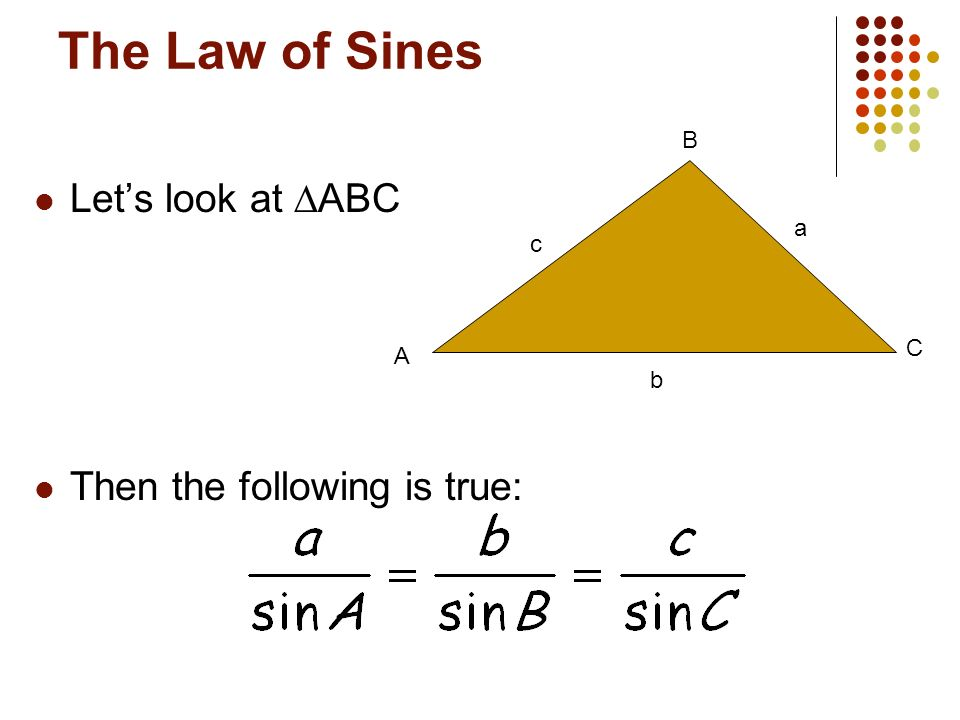 The Law of Sines Up to now we have worked with RIGHT triangles, but what about other kinds?