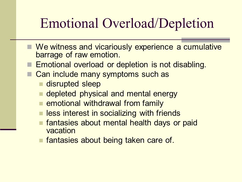 Therapist Distress Therapist distress describes conscious discomfort of suffering Distress per se does not necessarily imply impairment (OConnor, 2001) It might be seen or used as a warning signal Has the potential to affect the quality of patient care Many personal and professional sources Over 60% of therapists reported having been seriously depressed at some point during their career Others experience marital/relationship difficulties, inadequate self-esteem, anxiety, and career concerns (Pope & Tabachnick, 1994)