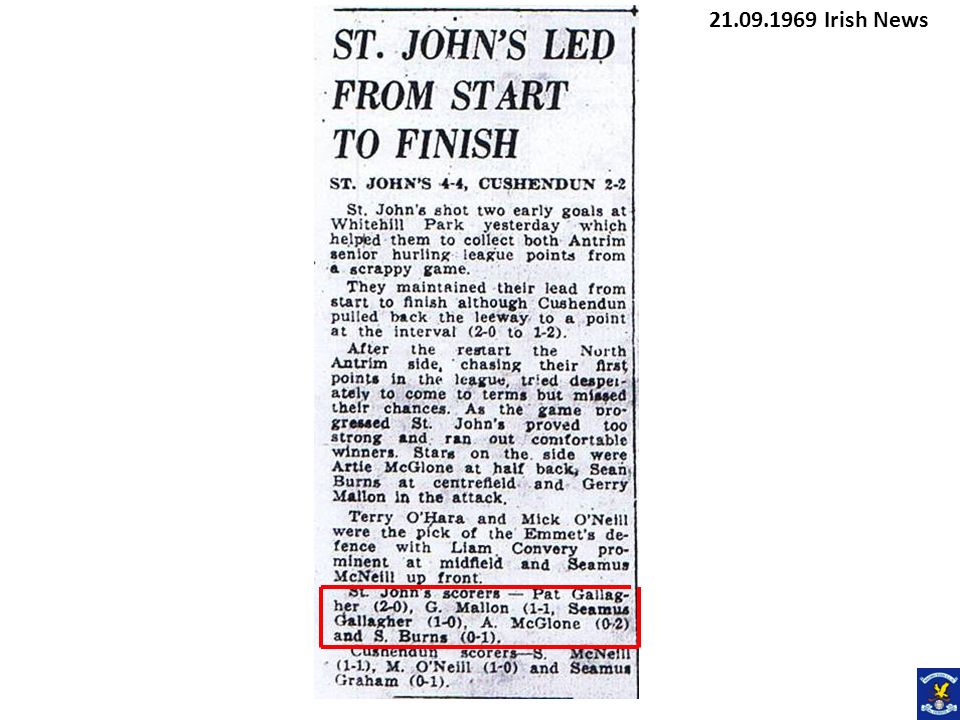 21.09.1969 Irish News
