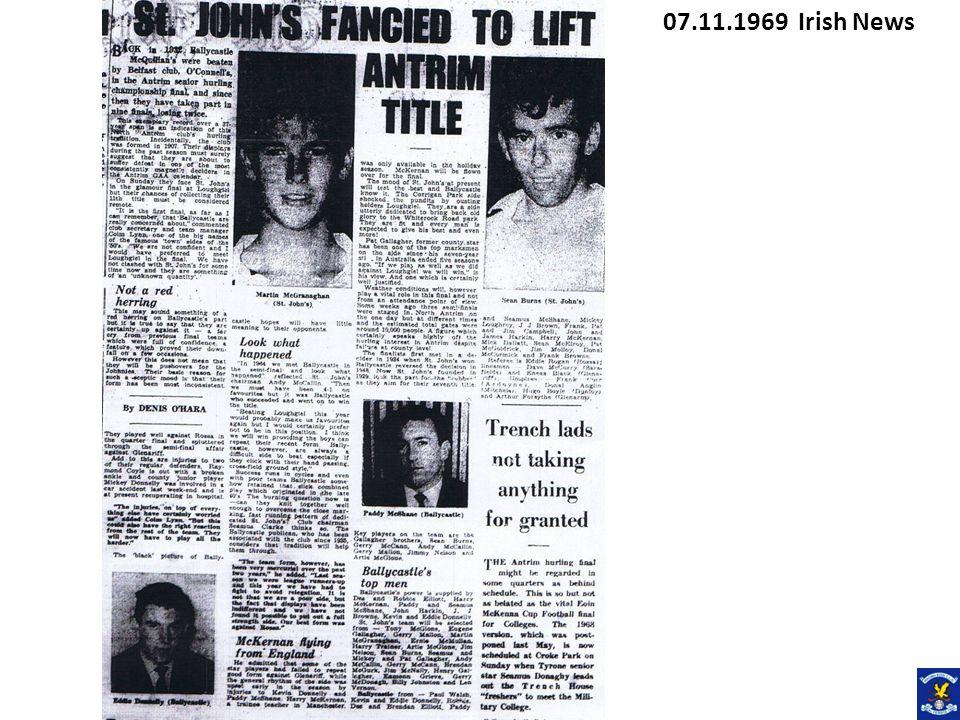 07.11.1969 Irish News