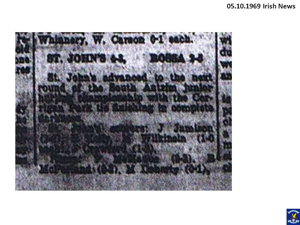 05.10.1969 Irish News