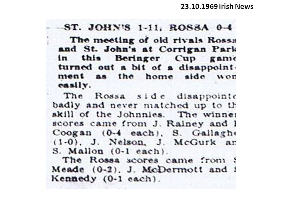 23.10.1969 Irish News