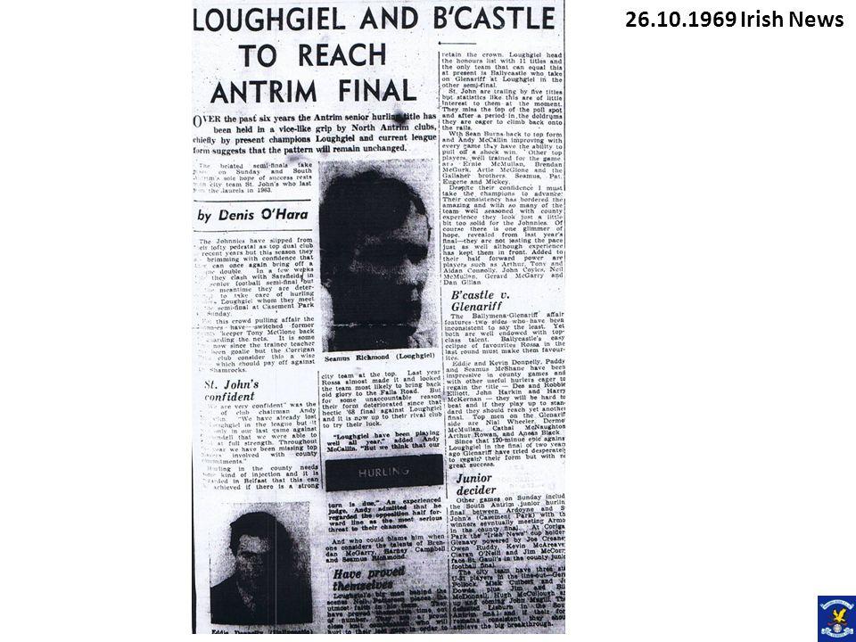 26.10.1969 Irish News