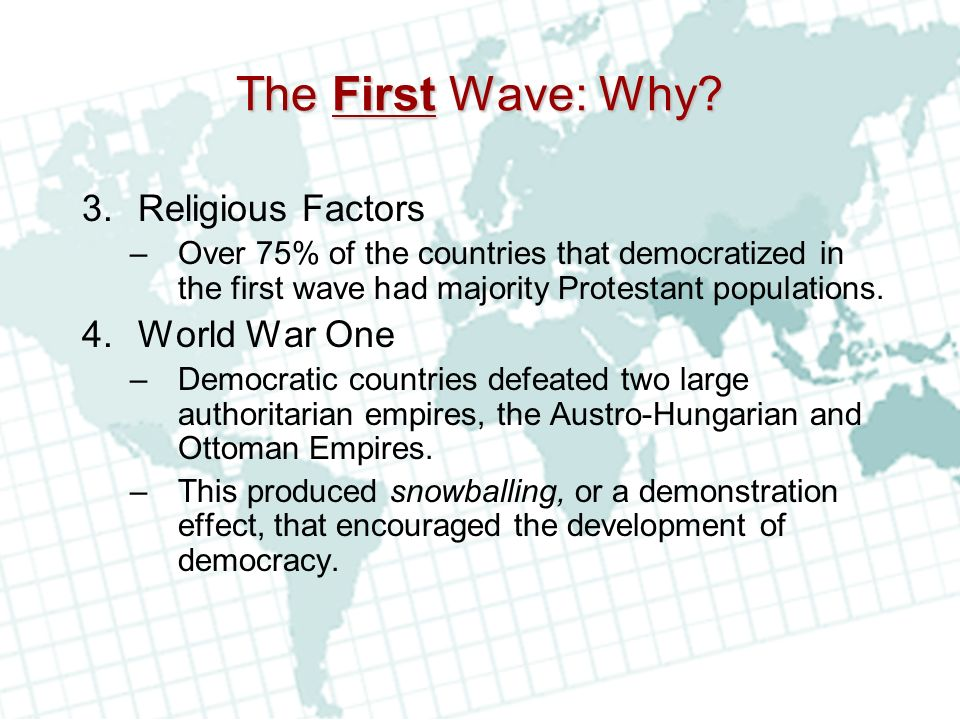 The First Wave: Why.