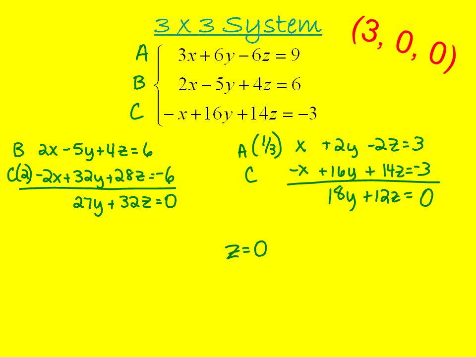 3 x 3 System No Solution