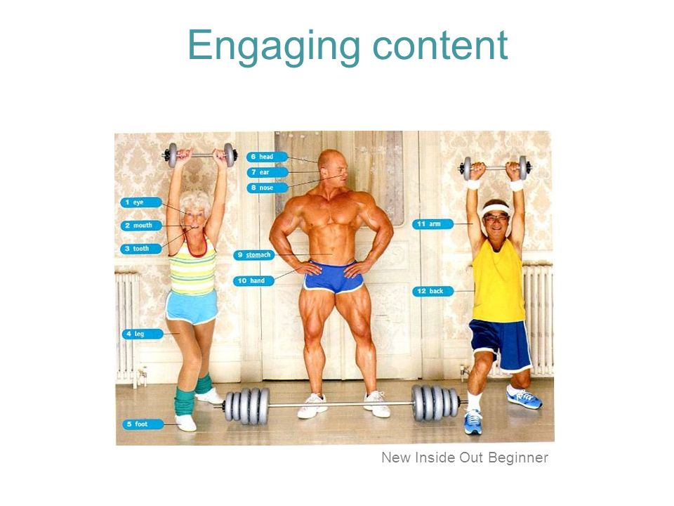 Engaging content New Inside Out Beginner