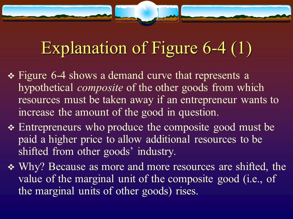 Explanation of Figure 6-4 (1) Figure 6-4 shows a demand curve that represents a hypothetical composite of the other goods from which resources must be