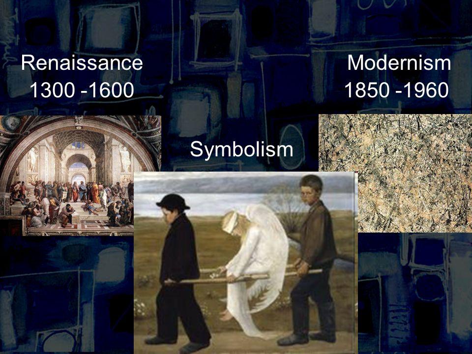 RenaissanceModernism 1300 -16001850 -1960 Symbolism