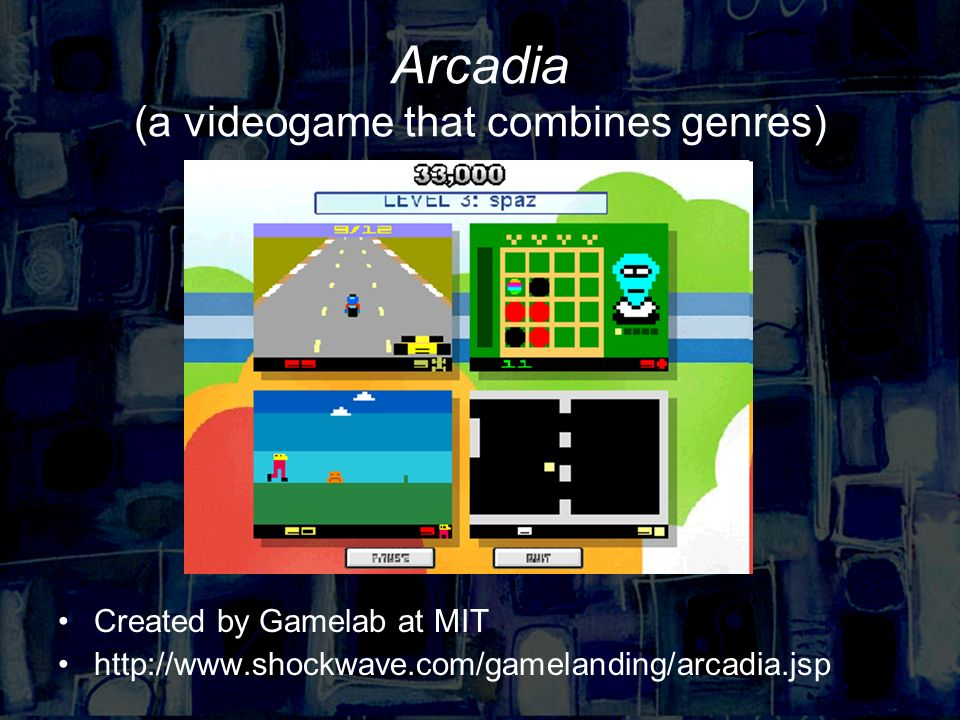 Arcadia (a videogame that combines genres) Created by Gamelab at MIT