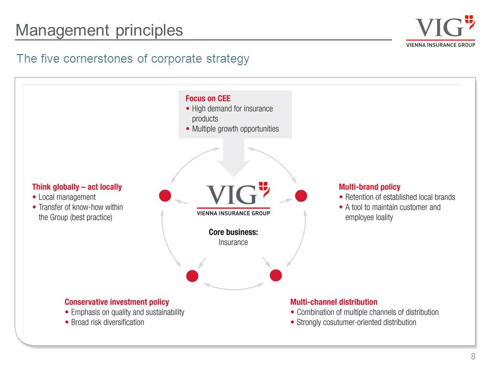 8 Management principles The five cornerstones of corporate strategy