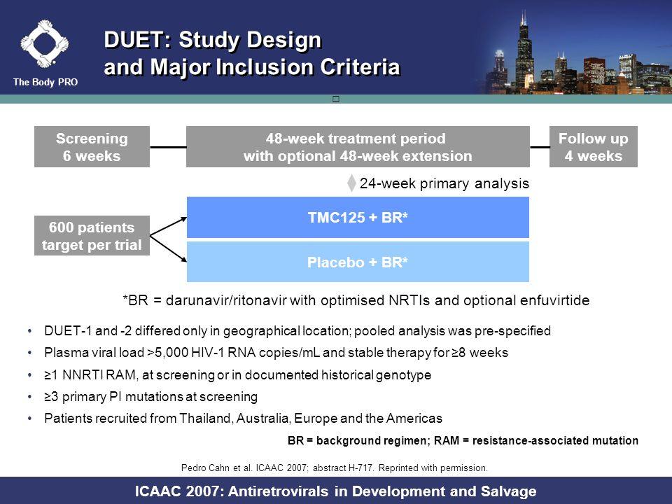 The Body PRO ICAAC 2007: Antiretrovirals in Development and Salvage Antiretrovirals in Advanced Development Drug NameClassDevelopment Stage Notes elvi