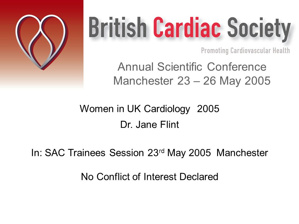 Women in UK Cardiology 2005 Dr.