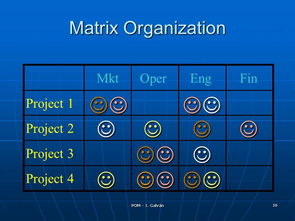 POM - J. Galván 16 Matrix Organization