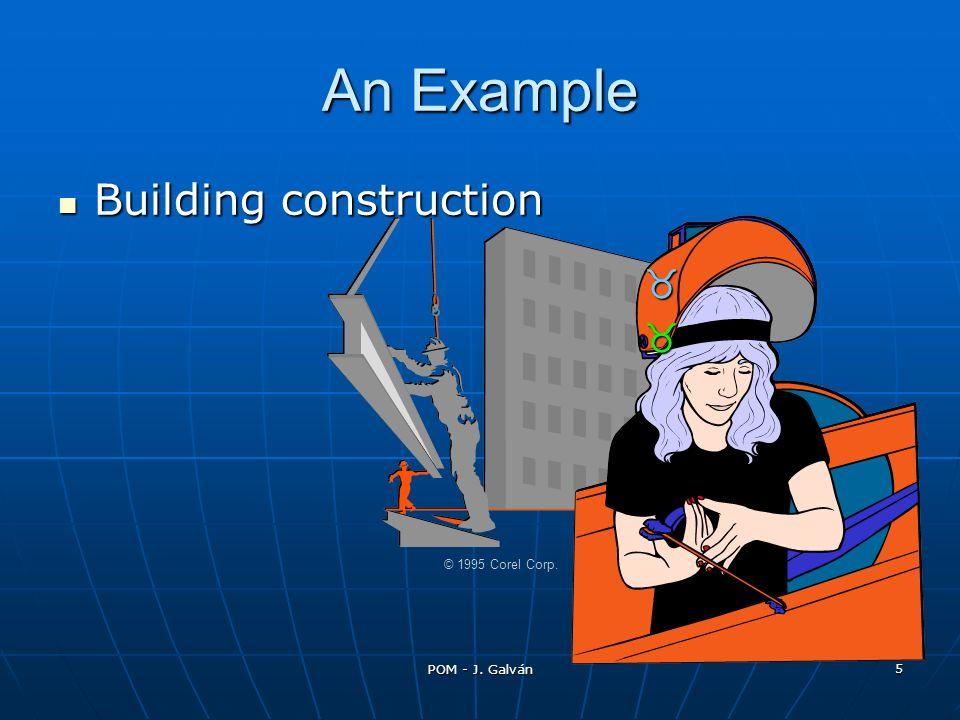 POM - J. Galván 5 Building construction Building construction © 1995 Corel Corp. _ __ __ __ _ An Example