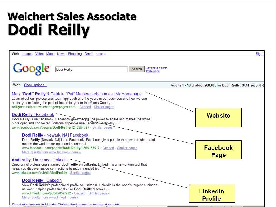 12 Weichert Sales Associate Dodi Reilly LinkedIn Profile Facebook Page Website
