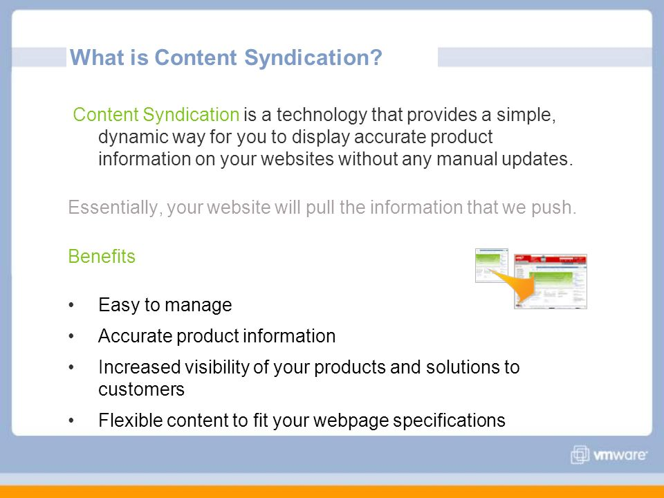 What is Content Syndication.
