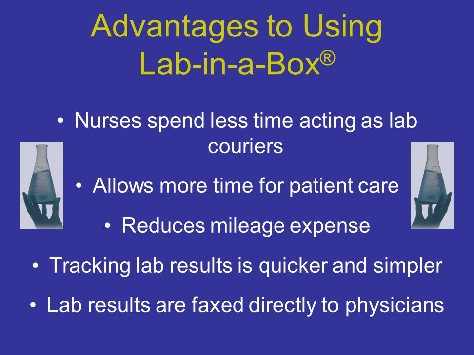 Results Results are reported the next day (same day kit arrives in lab) and faxed to your location as well as the ordering physician.