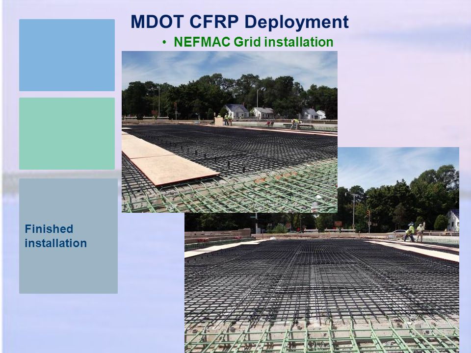 Finished installation MDOT CFRP Deployment NEFMAC Grid installation