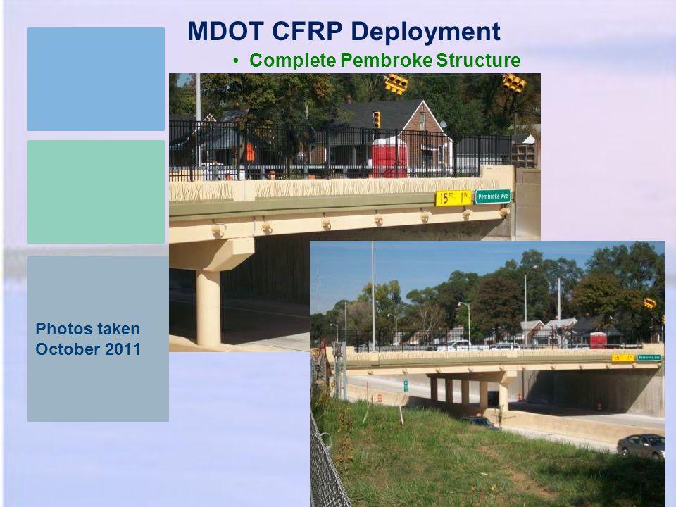 MDOT CFRP Deployment Complete Pembroke Structure Photos taken October 2011